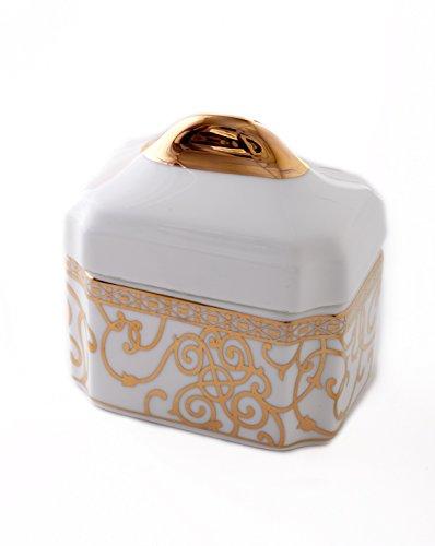 CRU by Darbie Angell Athena 24Kt Sugar Bowl, Gold/White