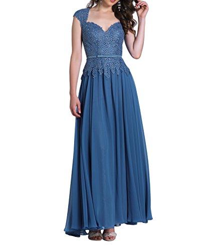Kurzarm Partykleider Langes mia Promkleider La Etuikleider Brautmutterkleider Spitze Dunkel Abendkleider Festlichkleider Blau Brau Lang 0qIwS6