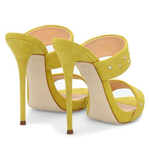 44 Muller Sexy 3301 Alto Elegante Donna Yellow Di Pole Strass Aggiornamento Dance Sexy KJJDE Tacco TLJ Altissimo Moda nUCT0OO