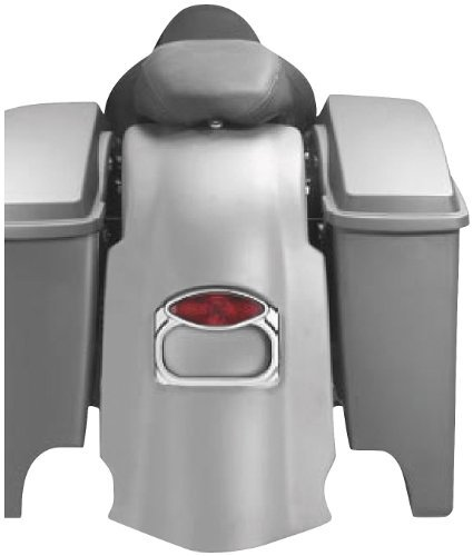 Arlen Ness Bagger-Tail Rear Fender with Dual Cut-Outs (Chrome Rear Fender Extension)