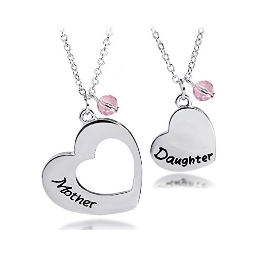 BNQL Mother Daughter Heart Necklace Set Mommy and Me Jewelry Gift (Mother Daughter Necklace Set) ()