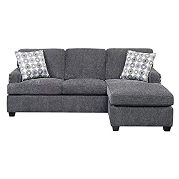 Fine Amazon Com Pemberly Row Lola Reversible Sleeper Sectional Caraccident5 Cool Chair Designs And Ideas Caraccident5Info
