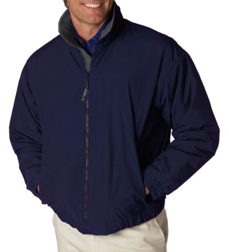Ultraclub Mens Adventure All-Weather Jacket 8921 -Navy/ Charco XL