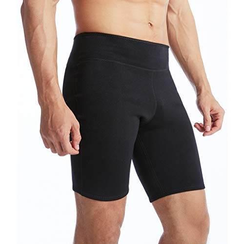 fe4f715f61f3d LYTOPTOP Men s Sweat Sauan Thermo Shorts Neoprene Slimming Exercise Pants  for Athletic Yoga Workout Tummy Fat
