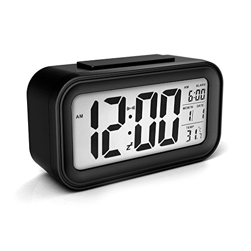 Alarm Clock Sensor Touch Alarm Clock For Kids Technology Light On Backlight Black