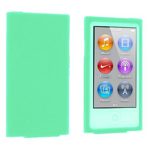(Importer520 Premium Rubberized Hard Rubberized Front Rear Case Cover for The New iPod Nano New Apple iPod Nano 7th Generation 2012 New Model - Sea Green)