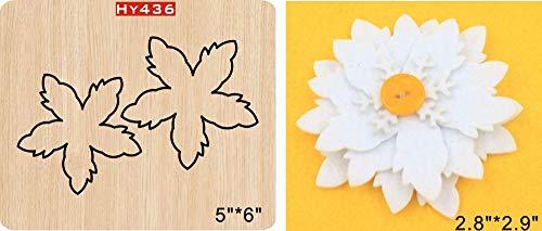 (3D Flower Cutting Die-Wooden Flower Cutting Dies 3D Flower for Dress Decoration-DIY 3D Flower for Dresses Design-Cutting Die for Leather Flower Petals-Flower Petals Wooden Cutting Dies R40)