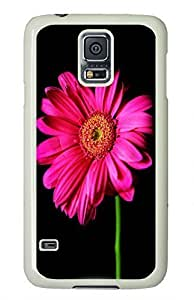 White Fashion Case for Samsung Galaxy S5,PC Case Cover for Samsung Galaxy S5 with Flower Pattern