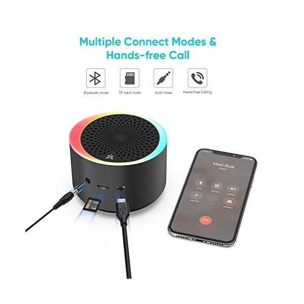 Enceinte Bluetooth Portable TWS AXLOIE Haut-parleur Bluetooth 5.0 sans Fil Basse Profonde Stéréo HiFi pour Carte TF / AUX Appels Mains Libres Micro Intégré 10H de Lecture pour iOS Android Tablette etc 6