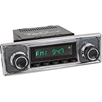RetroSound HB-308-509-39-78 Hermosa Direct-Fit Radio for Classic Vehicle (Black Face and Buttons and Pinstripe/Chrome Faceplate)
