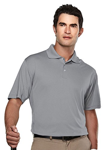 Tri Mountain Mens Poly Ultracool Pique Golf Shirt  158Tm   Gray 5Xlt