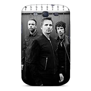 JamieBratt Samsung Galaxy S3 Shock Absorbent Hard Phone Case Unique Design Lifelike Muse Band Skin [KMs13824CFvd]