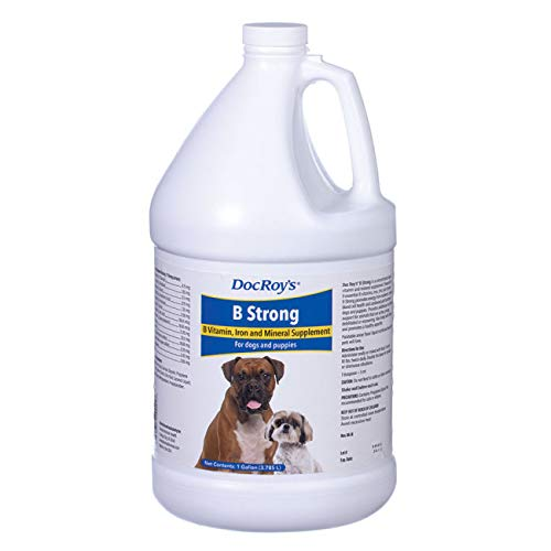 Revival Animal Health Doc Roy's B Strong - B Vitamin, Iron and Mineral Supplement- for Dogs and Puppies- Gallon Liquid by Revival Animal Health