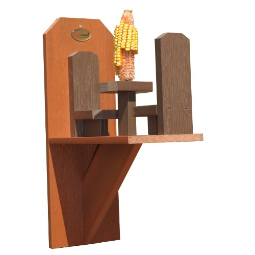 Highwood Craft Squirrel Corn Feeder, Wood Tones AD-SQIR1-WDT