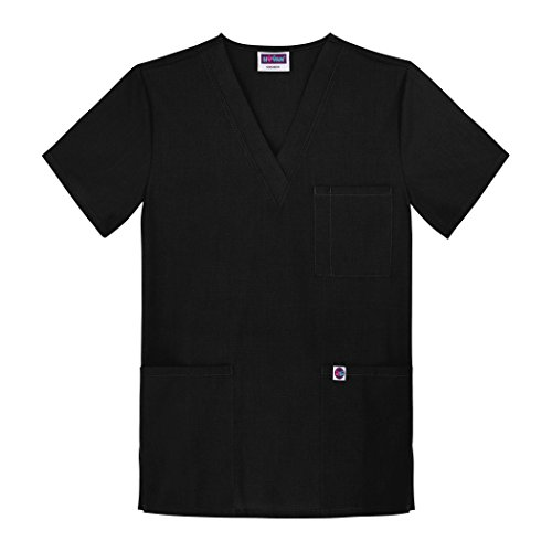 Sivvan Unisex Scrubs V-Neck 3 Pocket Top (Available in 12 Colors) - S8304 - Black - M