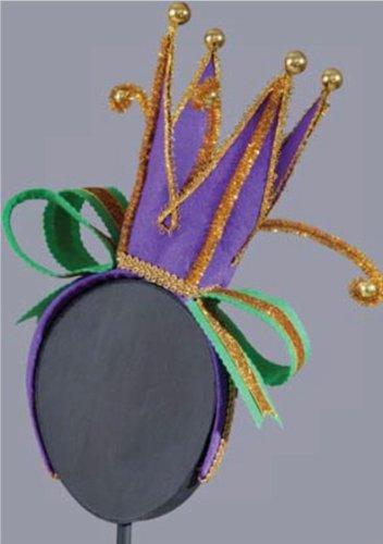 Jesters Crown (Mardi Gras Crown / Jester's Hat Fascinator Headband Hair Accessory)
