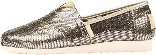 Paperplanes-1199 Fashion Glitter Shiny Slip-Ons Women Sneakers Gold 1ApOu