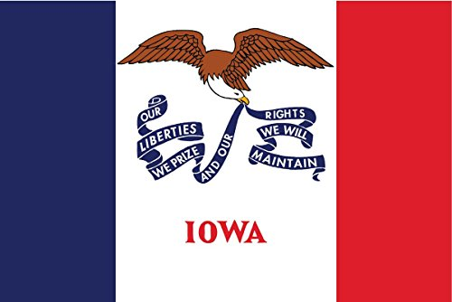 - 2-Pack Iowa State Flag Decal Sticker | 5-Inches By 3-Inches | Premium Quality Vinyl | PD321