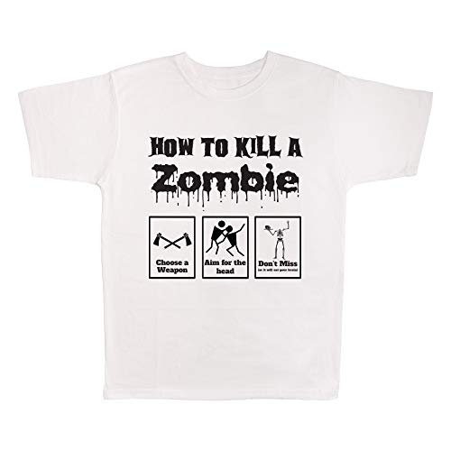 4 All Times How to Kill A Zombie Choose A Weapon Aim for The Head Don't Miss T-Shirt (Dead Rising Best Weapon)