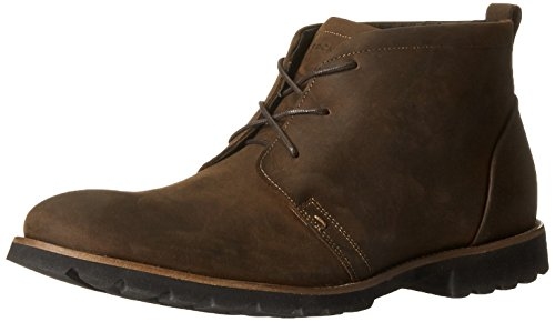 Rockport Men's Charson Brown Oiled Leather Boot 9 W (EE) - Rockport Man Boots