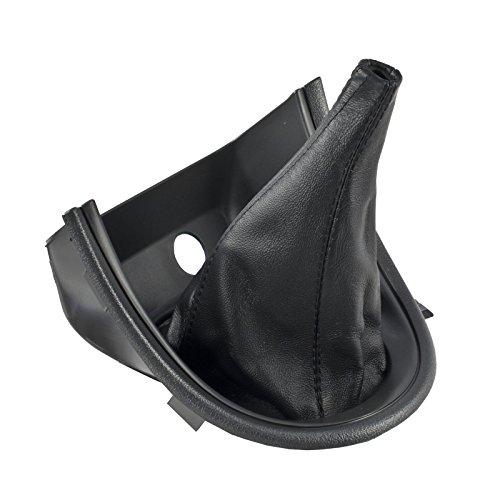 1999-2004 Mustang or Cobra Charcoal Shifter Bezel and Leather Shift Boot (Mustang Shifter Bezel)
