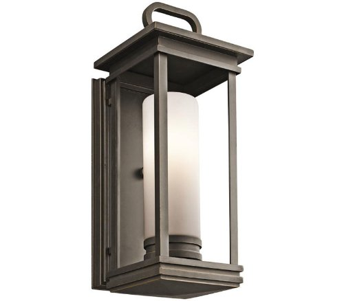 Chandelettes Collection - Kichler 49475RZ South Hope Outdoor Wall 1-Light, Rubbed Bronze
