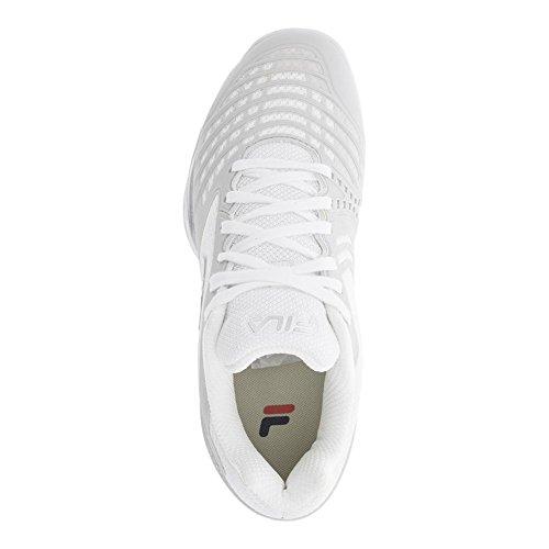 Silver Shoe Fila Men's Axilus White Metallic Tennis Energized qnB0xCwv
