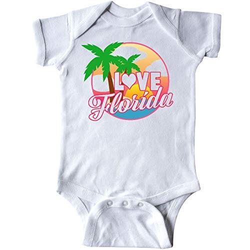 inktastic - I Love Florida with Ocean and Infant Creeper Newborn White - Florida Onesie