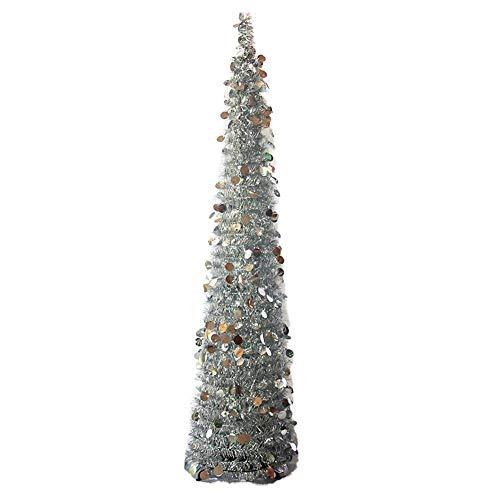 Árbol de Navidad plegable y ajustable, decoración para el hogar, árbol de Navidad, Plateado