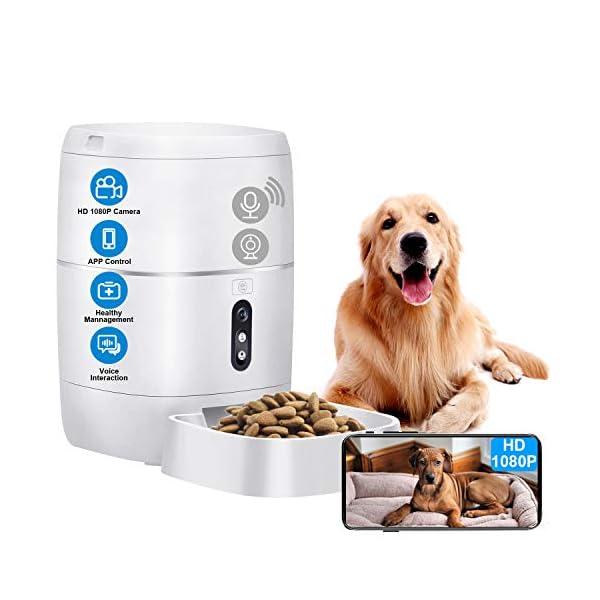 LeeKooLuu Q01 HD 1080P Camera WiFi Smart Feeder 6L Automatic Cat Feeder Automatic Dog Feeder Timer Programmable Voice…