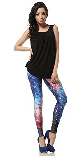 Ahatech Leggings da Donna Sportivi Pantaloni di Colori Diversi Palestra Di Fitness Pantaloni Leggings Yoga Esercizio Palestra Pantaloni, Super Confortevoli di Poliestere