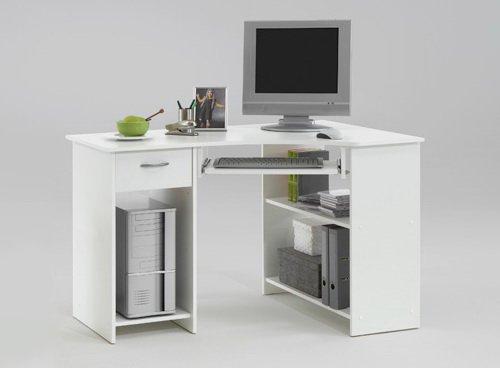 Lifestyle4living Bureau dangle avec 1 tiroir 2 compartiments