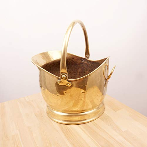 Restored by UKARETRO Coal Scuttle/Bucket / Crumb Catcher Bucket || Vintage Solid Brass || fire Place Accessory || Vintage Brass Pail/Container -