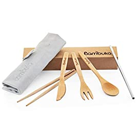 BAMBUKA Reusable Bamboo Cutlery Set