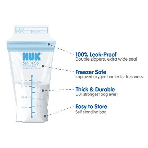 NUK Seal N Go Breast Milk Bags, 50 count