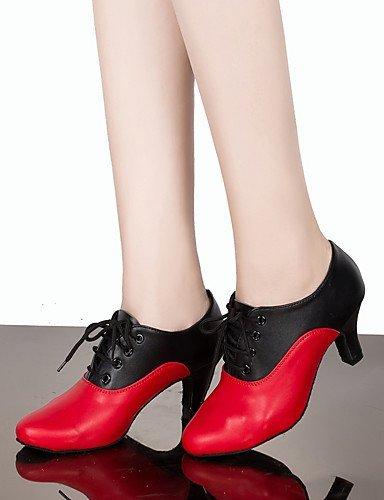 ShangYi Chaussures de danse(Autre) -Personnalisables-Talon Aiguille-Cuir-Claquettes , black and red-us6 / eu36 / uk4 / cn36 , black and red-us6 / eu36 / uk4 / cn36