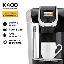 Keurig K400 Coffee Maker, One Size, Black (Certified Refurbished)