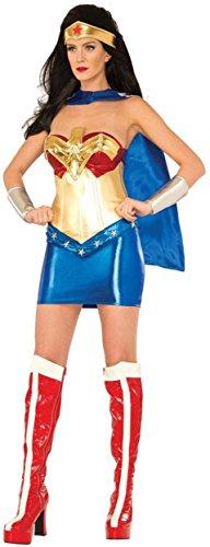 DC Comics Wonder Woman Classic Deluxe Costume, Multi, Large