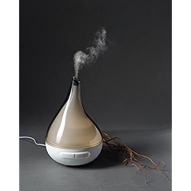 QUOOZ Lull Ultrasonic Aromatherapy Essential Oil Diffuser, High Capacity Diffuser with Auto Shut- Off
