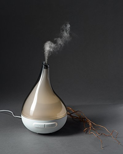 QUOOZ Lull Ultrasonic Aromatherapy Essential Oil Diffuser High Capacity Diffuser with Auto Shut- Off
