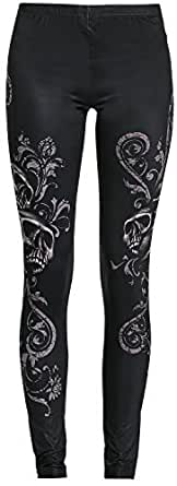Rock Rebel by EMP Skull Leggings Leggings Negro XS