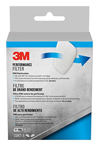 (3M Safety 5P71PB1-6 3M P95 Particulate Filters, 6/Pack,)