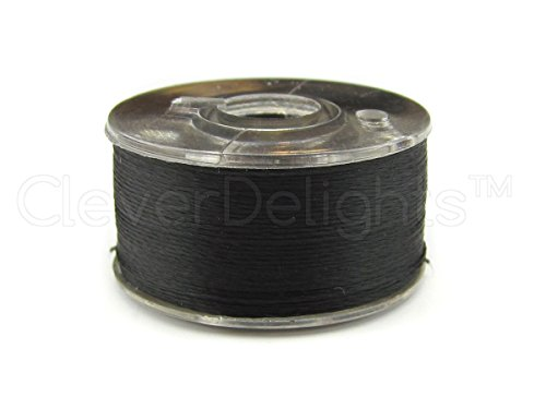 144 CleverDelights Black Prewound Bobbins 60wt Size A Class 15 Bobbins SA156 Replacement For Brother Embroidery Machines 7 16 x 13 16 Bobbins