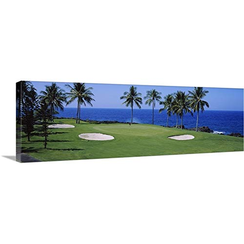 Canvas on Demand Premium Thick-Wrap Canvas Wall Art Print Entitled Golf Course at The Oceanside, Kona Country Club Ocean Course, Kailua Kona, Hawaii 60