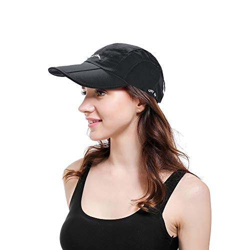 (Women Ponytail Baseball Cap Messy Bun Vintage Washed Distressed Twill Plain Hat (1pcs-quickdrying-Black) )