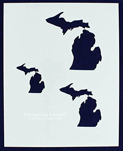 State of Michigan 8x10 Stencil (2
