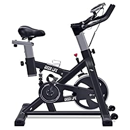 iDeer Life Exercise Bike, Indoor Cycling Bike, Smooth &...