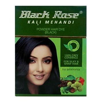 6f7ab0d725887 Buy Henna Black Rose Kali Mehandi Hair Dye (Black) (Pack of 6) Online at  Low Prices in India - Amazon.in
