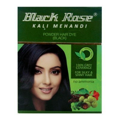 Buy Henna Black Rose Kali Mehandi Hair Dye (Black) (Pack of ...