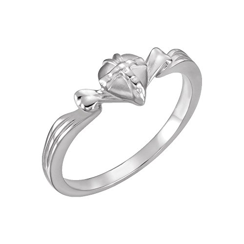 Gift Wrapped Heart Chastity Ring - Sterling Silver The Gift Wrapped HeartRing Size 4